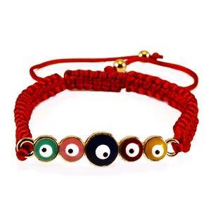 Evil Eye Multi-Colored Adjustable Bracelet